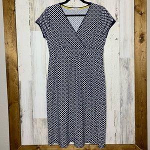 Boden size 8 dress soft short cap sleeve